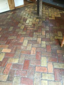 cleaning a brick floor in cambridge